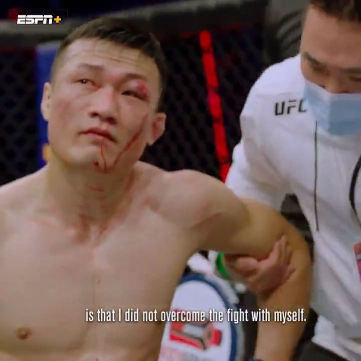On his quest to become UFC champion, @KoreanZombieMMA has learned  lessons about winning the battle within 🧟♂️ #UFCVegas29  Stream UFC Destined: Zombie vs. Ige (Part 1) on @ESPNPlus ▶️ https://t.co/EKojelgemU https://t.co/Ngr7CKXGYT