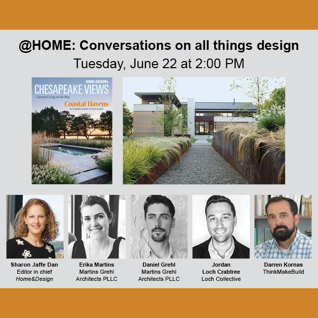 Please join us for a live chat on Tuesday, June 22 at 2PM w/the design team behind the project featured on the Spring 2021 cover of Chesapeake Views.  Register in the link: https://t.co/HUp0o8Ijht  #zoom #athome #architecture #chesapeakeviews #homeanddesigndc https://t.co/39cSmq7wqL