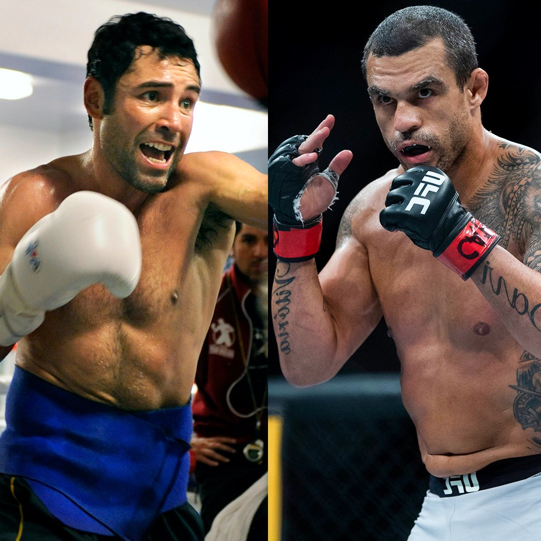 Oscar De La Hoya will face veteran MMA fighter Vitor Belfort in an exhibition boxing match under the Triller Fight Club banner on Sept. 11, promoter Ryan Kavanaugh told @Marc_Raimondi.   The Athletic first reported the news. https://t.co/WhgT2CV9j8