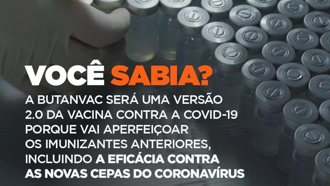 Você sabia que a Butanvac é a segunda geração das vacinas contra a covid-19? Isto porque ela incluirá eficácia contra as novas variantes do coronavírus e será ainda mais segura. #Podeconfiar #ÉdoButantan https://t.co/S9npjzRQeF