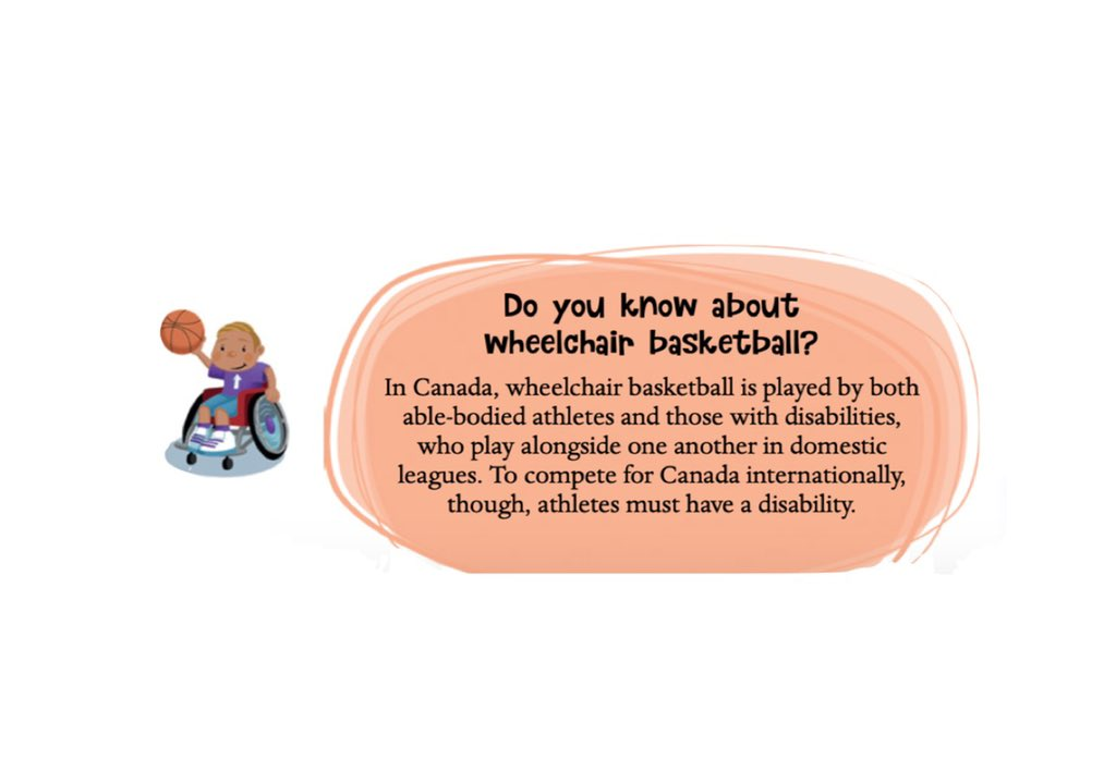 Fun Basketball Fact! 🏀 Wheelchair basketball is an inclusive sport to all players!   Illustrations by: @jhearnedesign   #wheelchairbasketball #lucytriessports #inclusive #basketball #sports #activekidsarehappykids #sportsfacts #learning #grassrootssport #activelifestyle https://t.co/chreCbXAbr