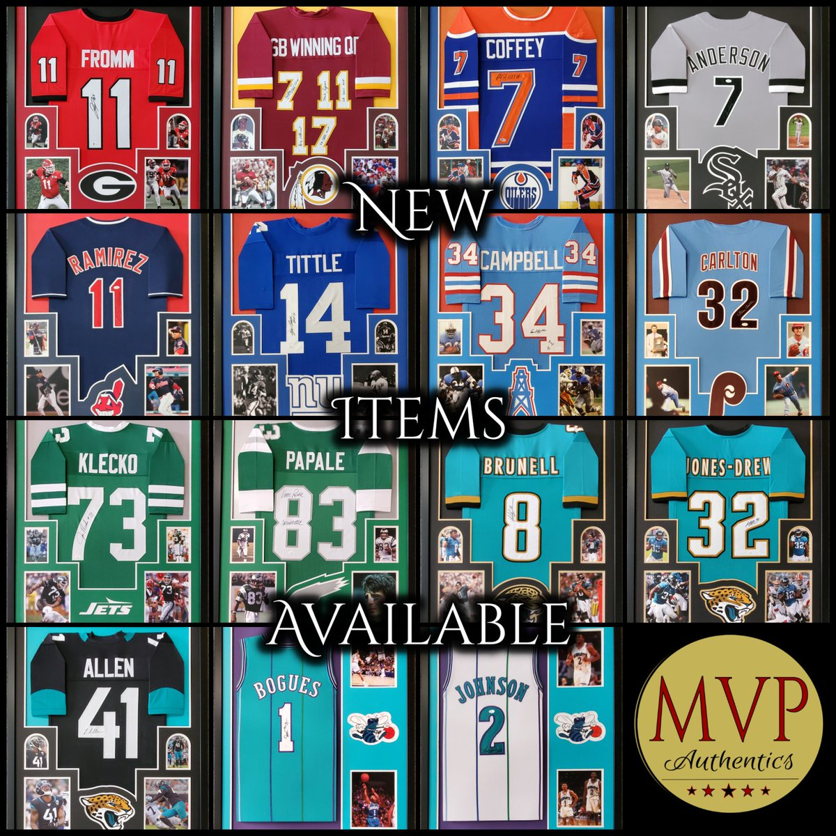 Our #CustomFraming is pretty awesome. New stuff hitting the store soon. #NFL #MLB #NBA #NHL #Sports Memorabilia #Framing #SportsCollectibles https://t.co/1DWbWagjuw