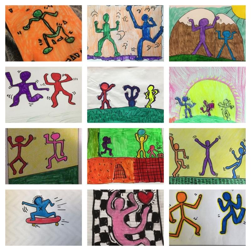ATS Arists está em movimento! Aprendendo sobre Keith Haring e o princípio de desing