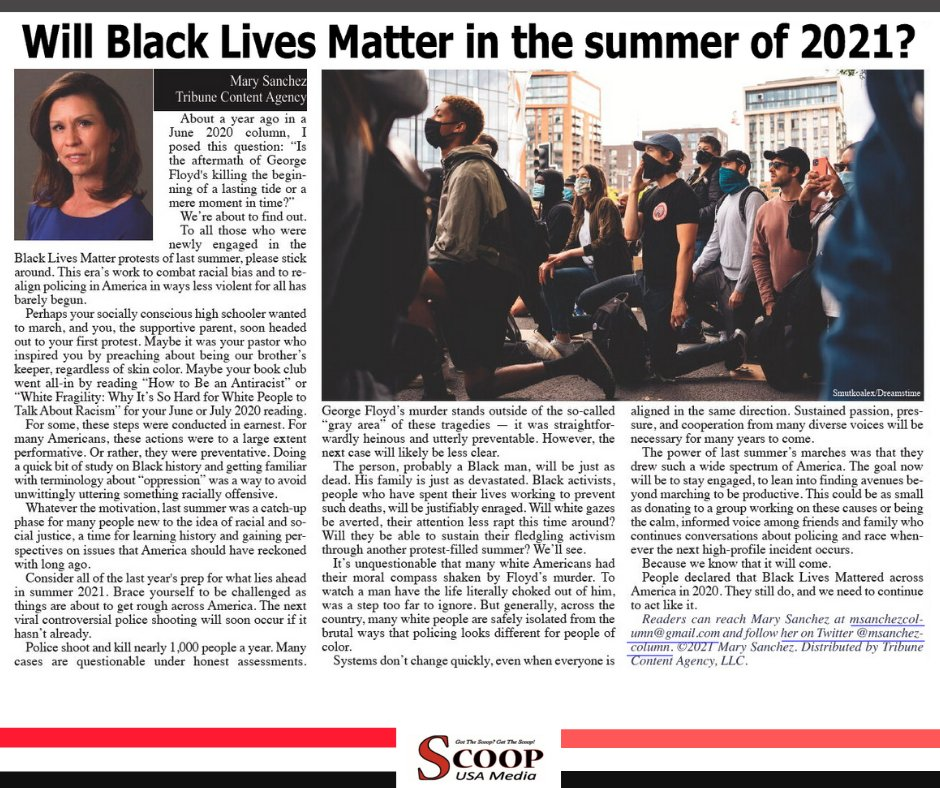 Will Black Lives Matter in the summer of 2021?  Read: https://t.co/b97npYSoIa  . . . . . #BLM ##blackmedia #localnews #community #scoop #news #africanamericans #philadelphia #scoopusamedia #philly https://t.co/924XUTCY1Y
