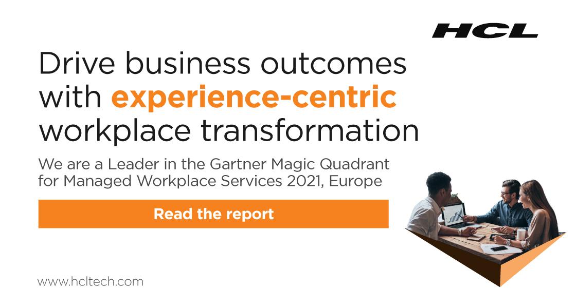 HCL - Gartner quadrant - Workplace services