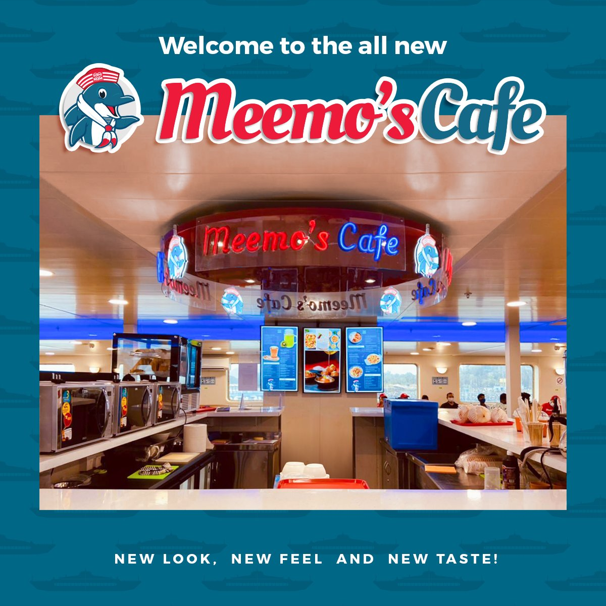 Introducing the newly revamped Meemo's Café 🙌 We've brought out a range of new delicacies to serve you good taste and great memories. So, don't forget to grab a bite the next time you sail with us.  #m2mferries #ropax #roro #mumbai #mandwa #food #instafood #cafe #meemoscafe https://t.co/QxkQvsXMU7
