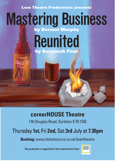 RT @LeanTheatrePrdn Have you heard? 📣📣 Live theatre is back at cornerHOUSE Surbiton with double-bill of dark comedy: Mastering Business by Dermot Murphy and Reunited by Susannah Finzi 1-3 July  @cornerHOUSEarts @KingstonNubNews  @EventsKingston @KingstonArts @KoThames  🎟️ https://t.co/k78kk7aMwZ