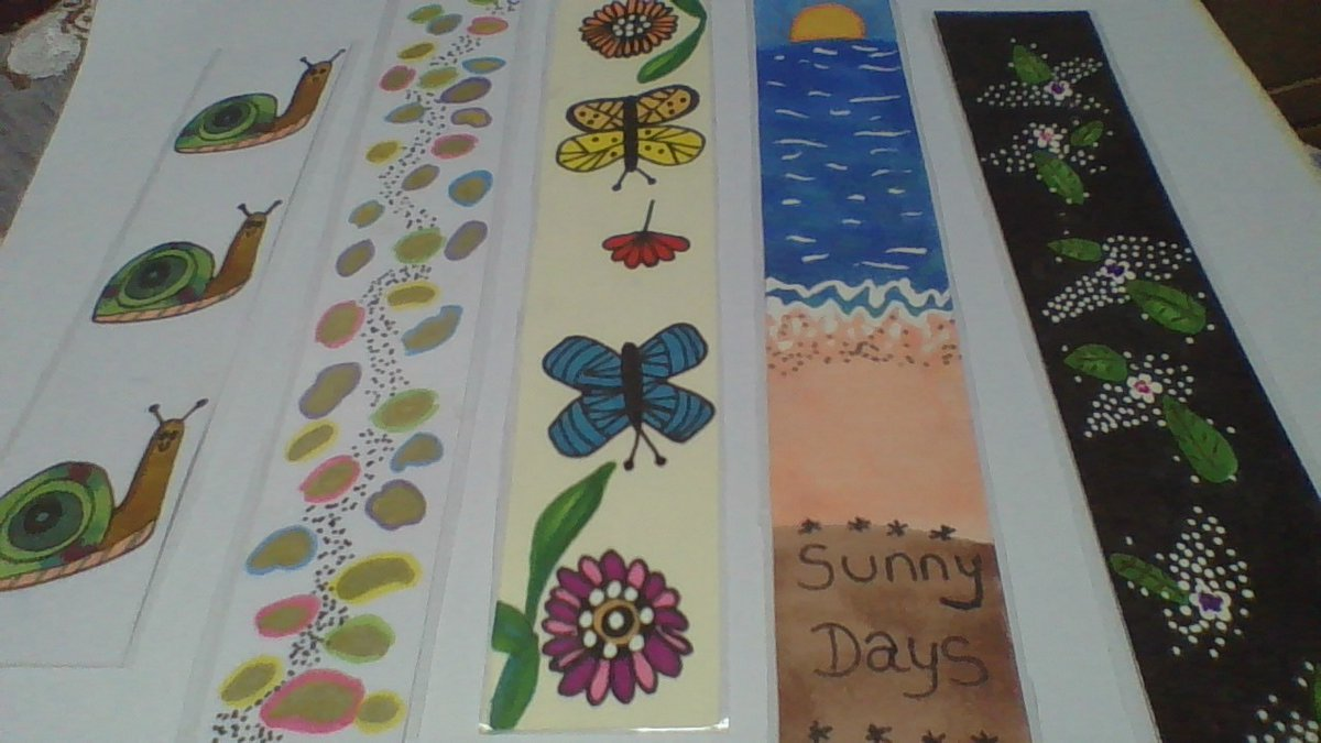 Still not sold any of these Bookmarks https://t.co/d9hU8Kw6mc  One of Each Available  #YourBizHour  #handmade #handmadewithlove  #giftIdeas #womaninbiz https://t.co/cpAk8EuAOy