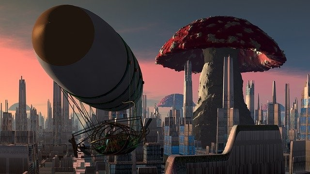 Photo By 8385 | Pixabay - via @Crowdfire    #airship #city #mushroom #steampunk #cinema #pilot #sciencefictionmovies #movies