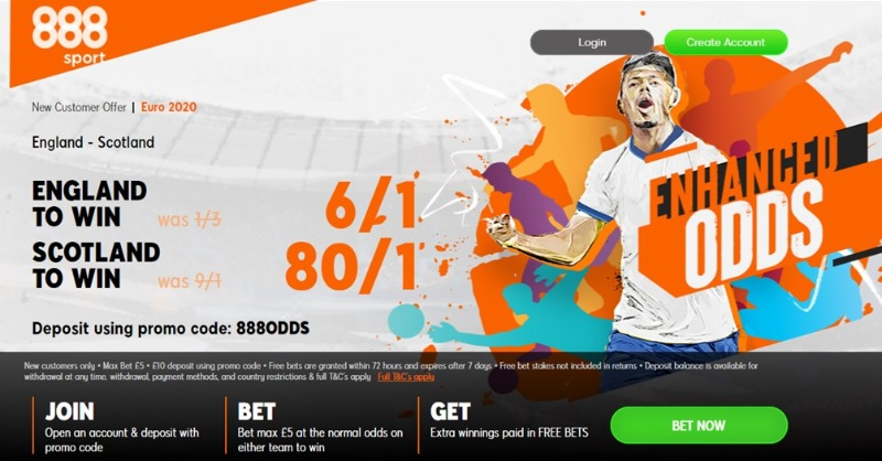 888 Sport Betting Bonus
