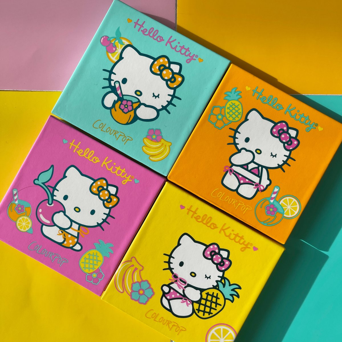 Hello CUTE packaging! 😍🍍🌺  Shop the @hellokitty Tropical Escape Collection NOW on https://t.co/5C9dbszKrN  IG | @lapetitechicmommy #HelloKittyXColourPop https://t.co/vqOc4g4LXV