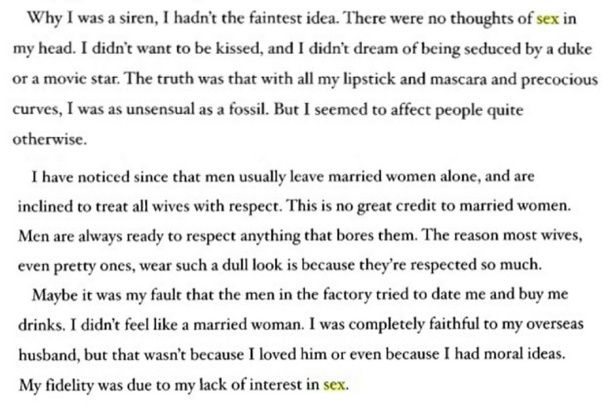 RT @XiranJayZhao: Omg...These are from Marilyn Monroe's autobiography  SIS DEFINITELY WASN'T STRAIGHT https://t.co/6lXFR9oi4H