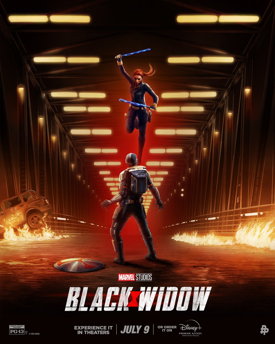 On July 9, it's time to experience her story 🕷️ Check out the first in a series of posters inspired by Marvel Studios' #BlackWidow. Art by @AdStothard. Tickets and pre-orders available now. https://t.co/cWeQKM9BPl https://t.co/hbOGNPV0uQ