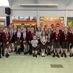 We received our medals this morning for taking part in the Basildon School's Relay