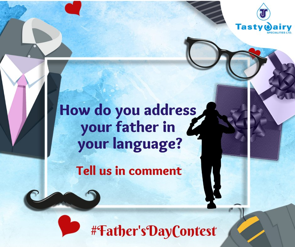 Your wait is over now. Here we come with our contest. Participate in this contest and get a chance to win an exciting gift. Comment your answer and tag us. Share the contest with 3 friends Follow our page on FB, Twitter, Instagram. Use #FathersDayContest. #TastyDairy #FridayMood https://t.co/PhFBqgtFZb