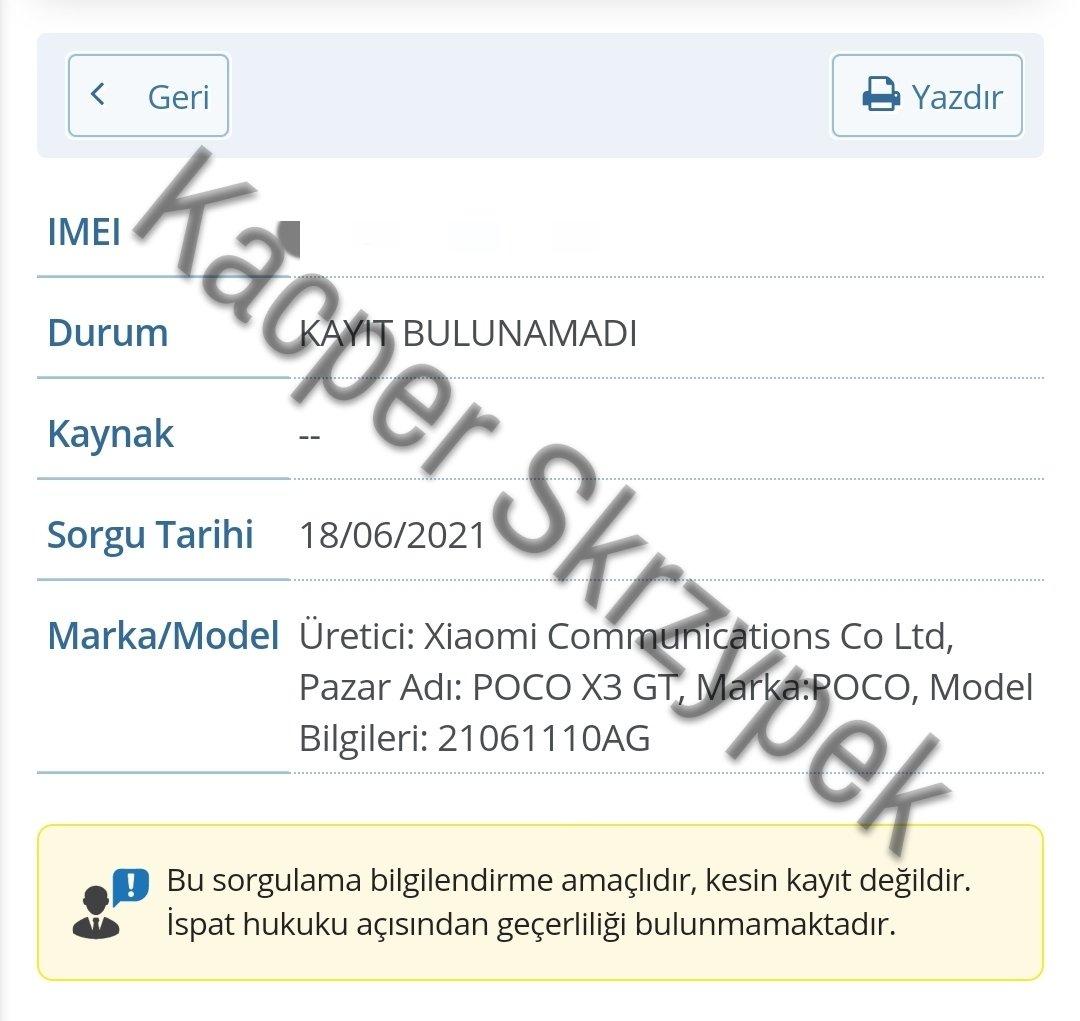 certificacion poco x3 gt