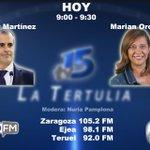 Image for the Tweet beginning: Ahora en La Tertulia de