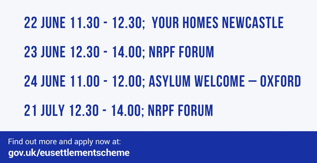 test Twitter Media - ⚠️Only four webinars to go⚠️ We are working w/ LAs, Care Providers & Social Workers to support EU/EEA citizens at risk to apply to the EU #SettlementScheme. Sign up to the upcoming webinars here > https://t.co/CtCekRpzQf  @AdultPSWNetwork @CPA_SocialCare @candsalliance  @BASW_UK https://t.co/88hcIdQUhy