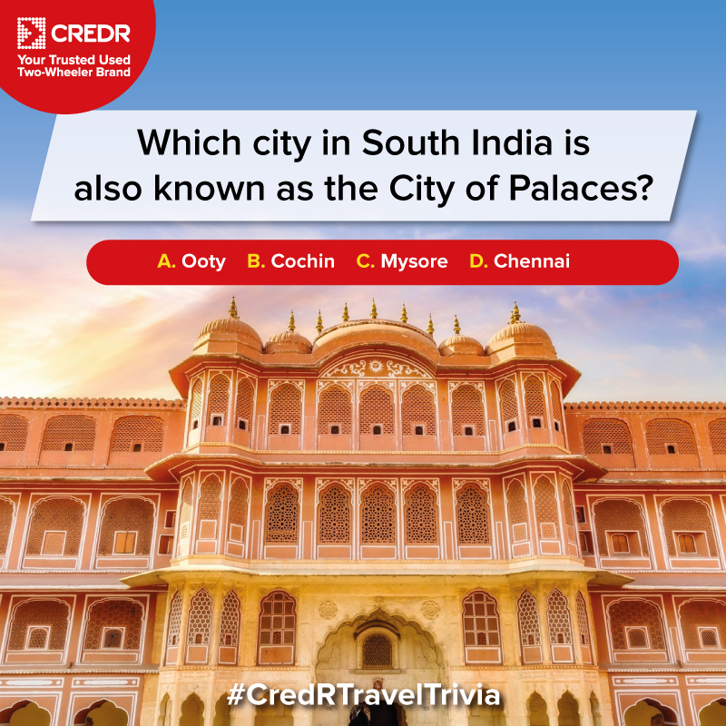 Here's the last question of the #CredRTravelTrivia Contest!  Do read the T&C* before participating - https://t.co/Z9B10dAtyZ  #CredR #ContestAlert #ContestIndia #ContestTime #ContestAlertIndia #TravelContest #TravelIndia https://t.co/PTSDj3Ig74