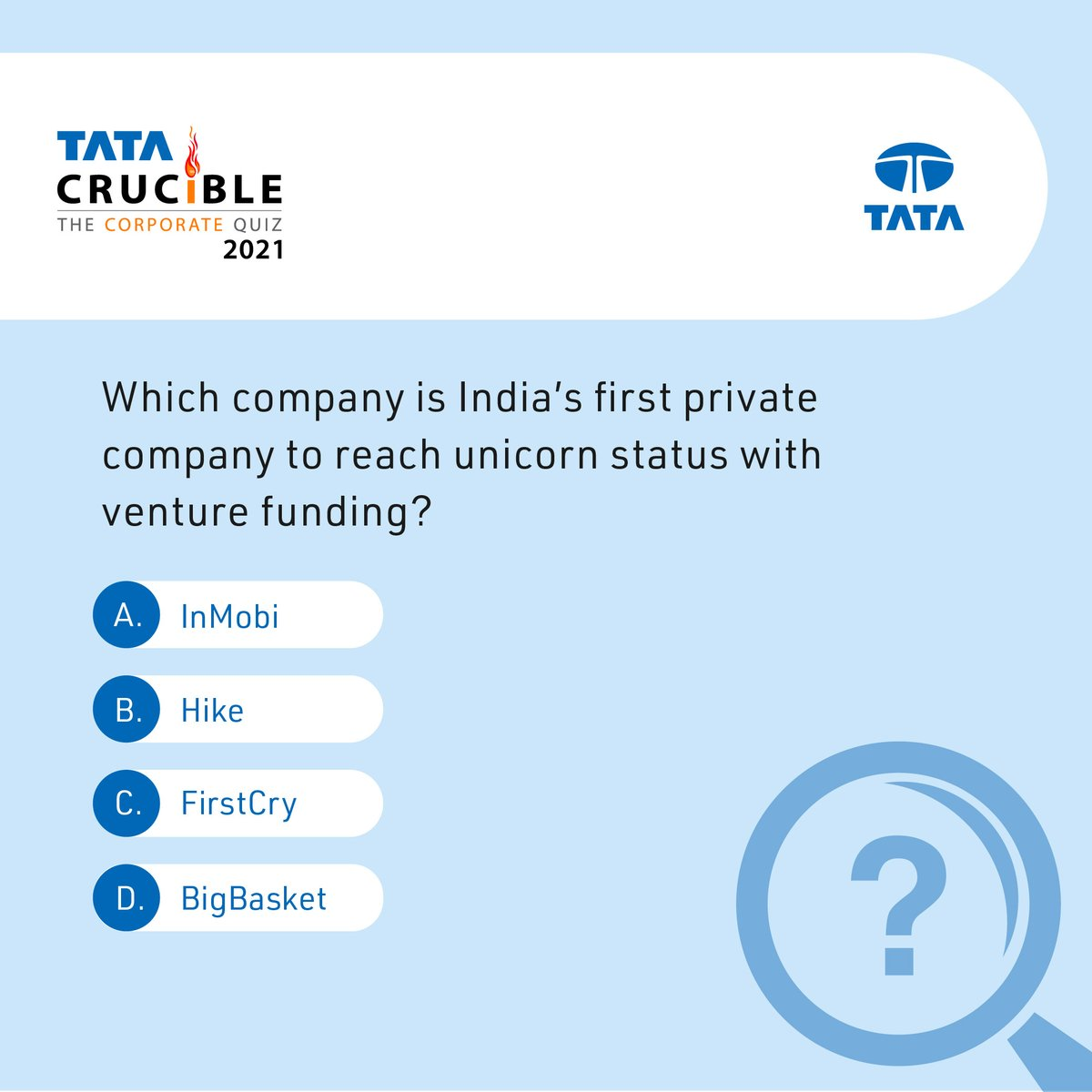 It's time for the weekly #TataCrucibleContest! Just answer this question and stand a chance to win a prize*. #Contest #ContestAlert *T&C apply. https://t.co/uxYcyelfTl