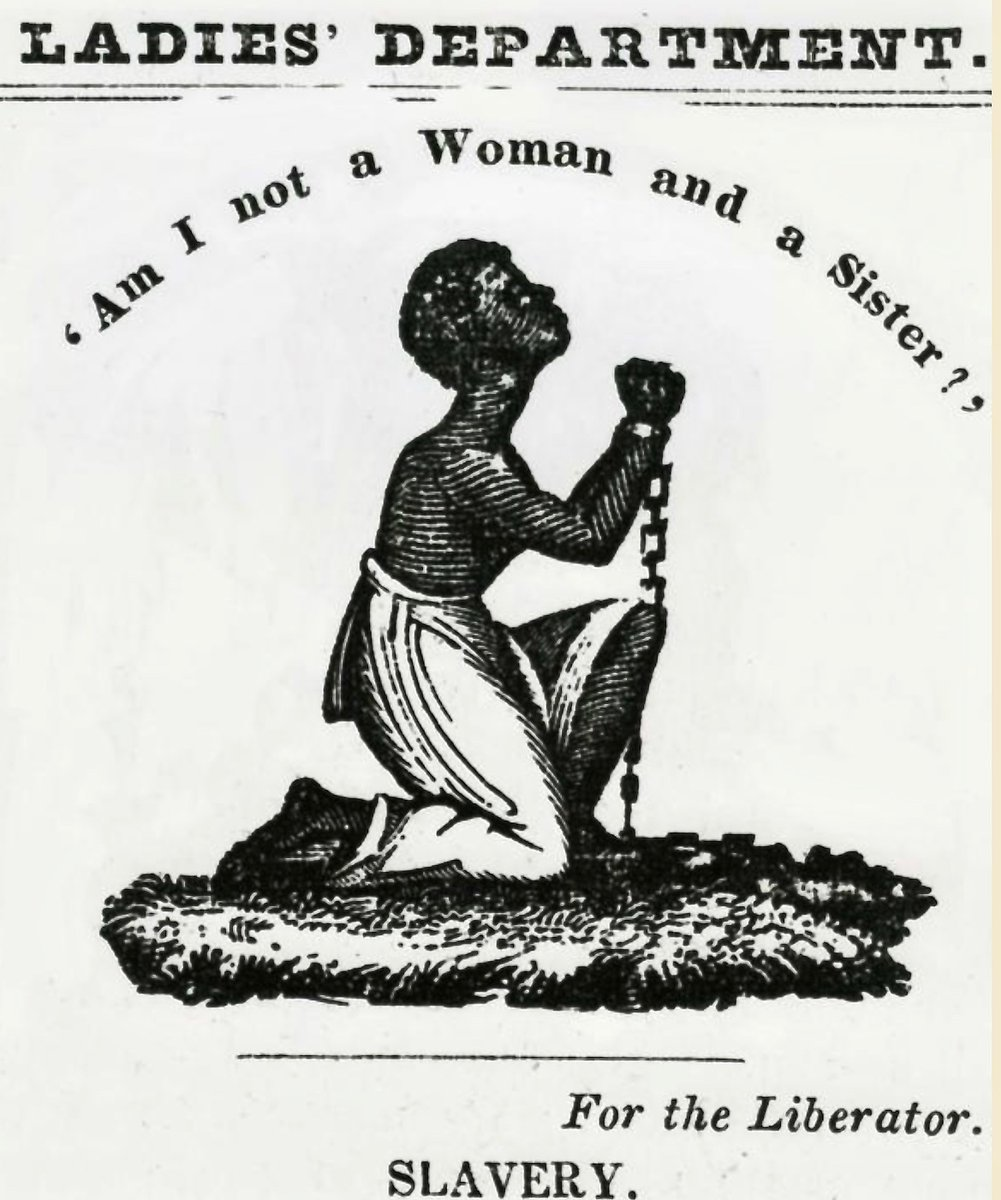 """Am I not a Woman and a Sister?"" — Broadside from Philadelphia Anti-Slavery Society: https://t.co/2GFOk3jxeT"