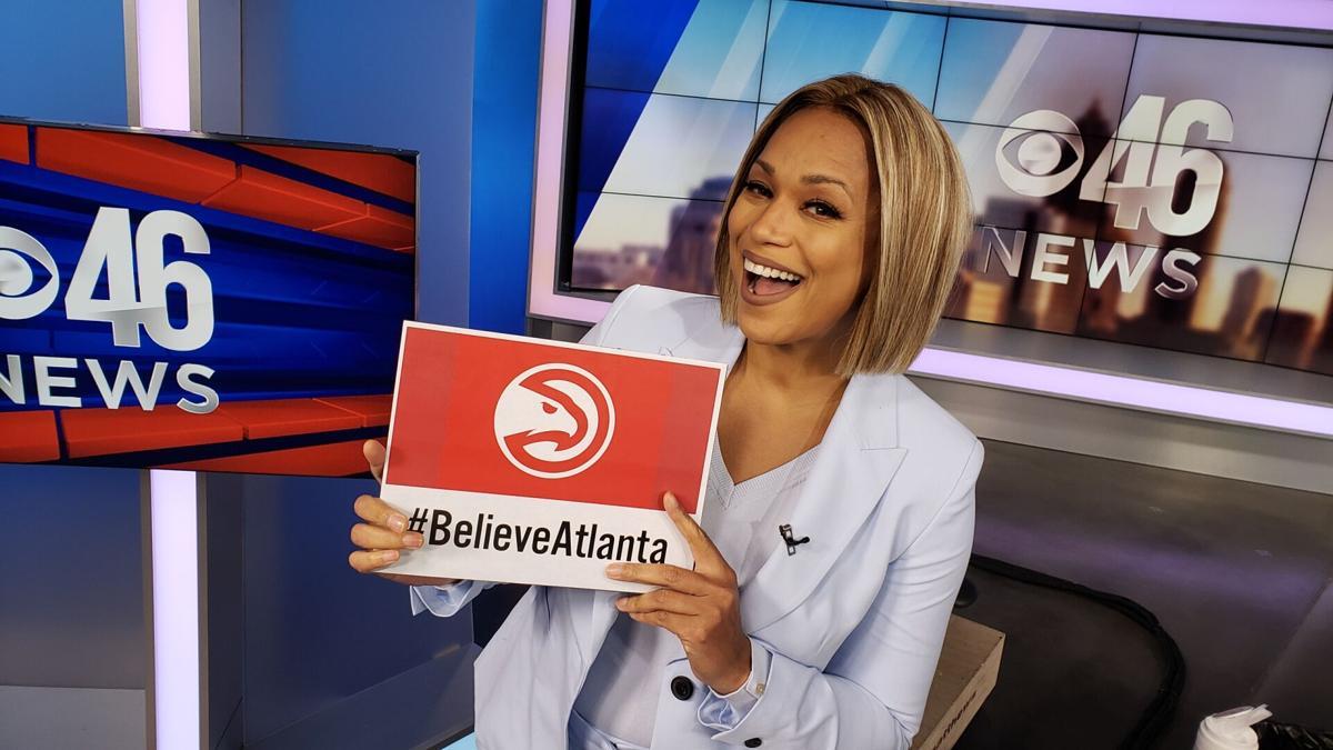 #BelieveAtlanta @cbs46 evening anchor @shongables is ready for tonight's @ATLHawks game! Are you ready?!? #TrueToAtlanta