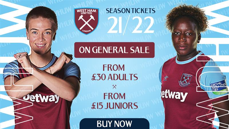 2021/22 Season Tickets are on general sale now! Click on the link below to secure yours ⚒  🎟➡️  https://t.co/q9dAFXHiwM https://t.co/RZUOGDvBg6