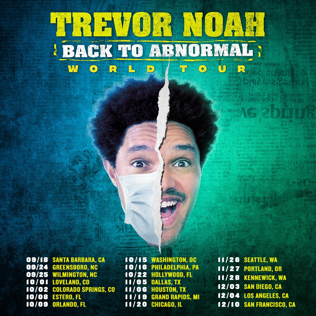 """The first 20 shows of my new """"Back To Abnormal"""" World Tour kick-off in the US and East Coast you're up first!! All East Coast shows are now ON-SALE! Others to follow at 10am local. Find your tickets at https://t.co/L7bDKHUiXq 🙌🏾🔥#BackToAbnormalTour https://t.co/74z5cDd7xp"""