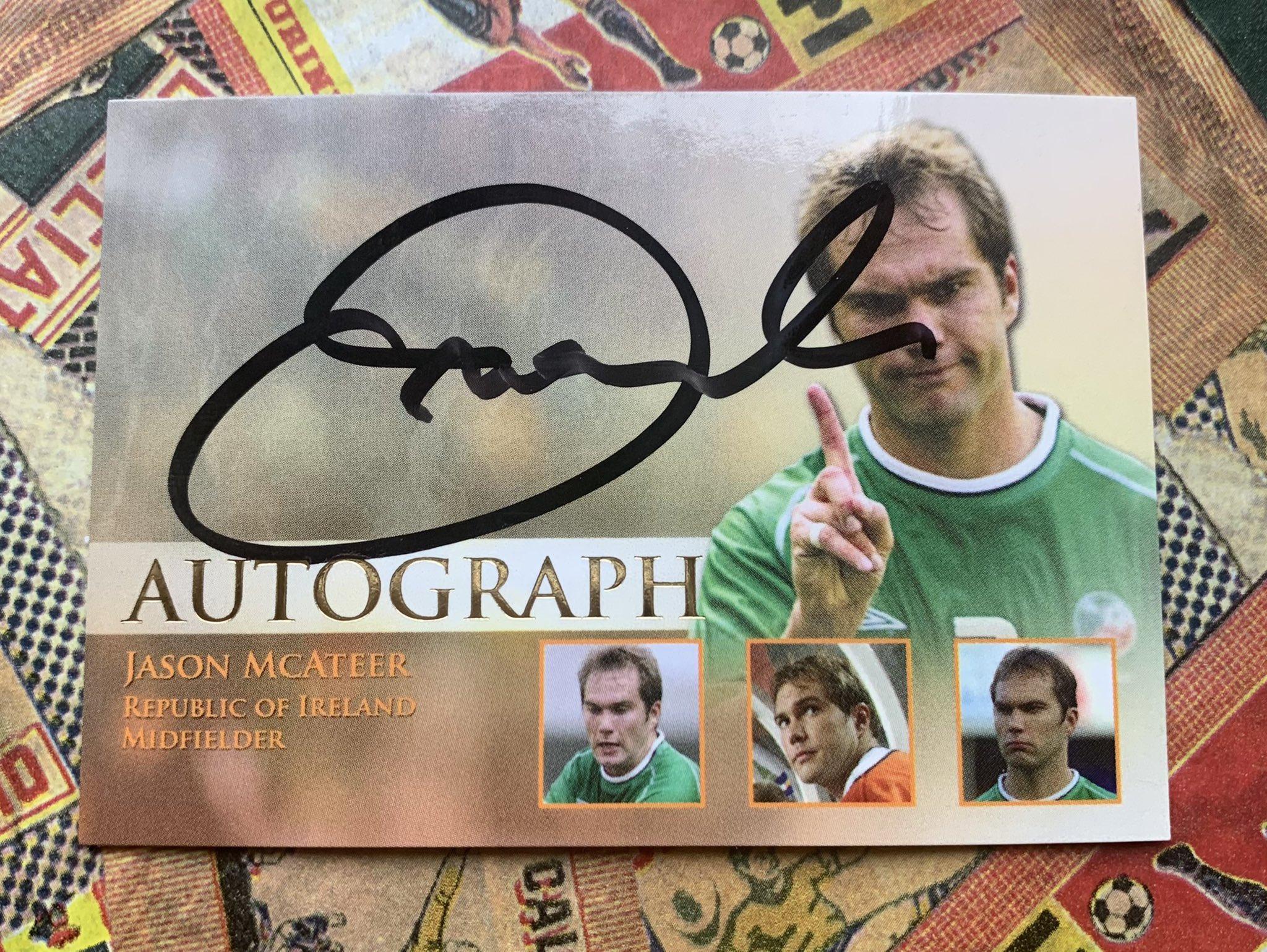 Jason McAteer in Unique 2013 Autograph card /55  Happy birthday