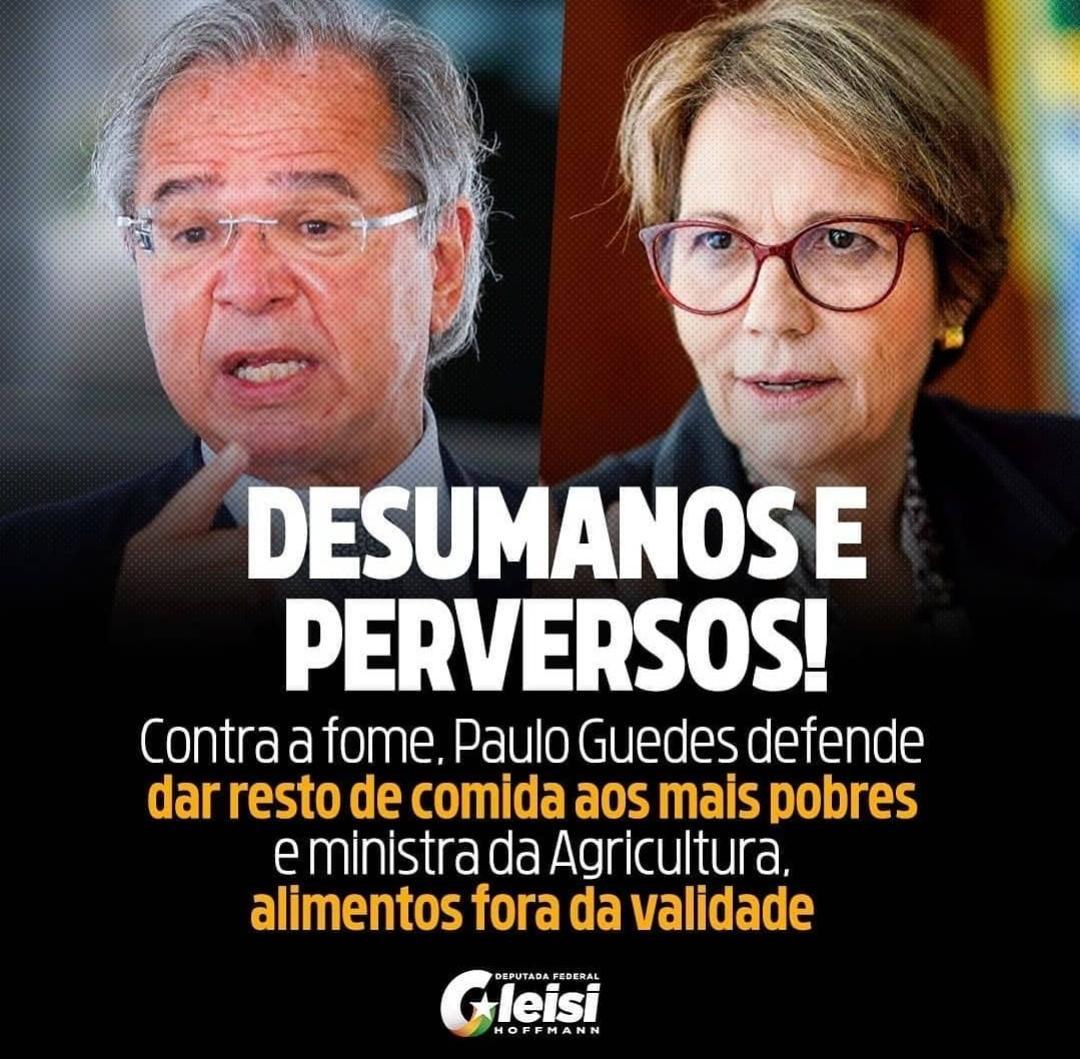 """Felipe do PT on Twitter: """"Paulo Guedes, que gasta 600 reais em seu café da manhã, mandando os pobres viverem de restos. Ei, Guedes, Vtnc!"""""""