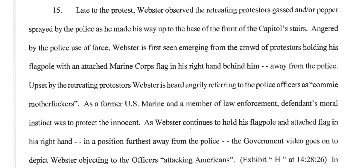 """Thomas Webster, a former NYPD cop who once served on Mayor Bloomberg's protective detail, says he only attacked a cop at the Capitol b/c he was angry about """"police use of force"""" against J6 protesters.  He filed papers overnight trying to get out of pretrial custody. https://t.co/4HvMAky3z8"""