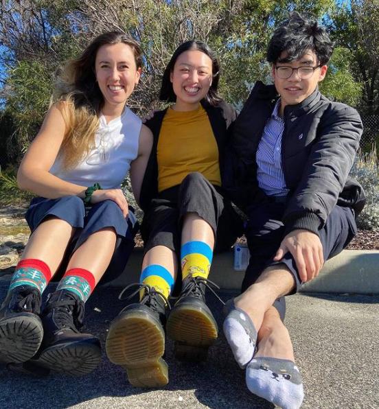 Socks that match the personalities 🤩 ◾◾◾ 📷 Gabby  ◾◾◾ #funky #sockstomatch #friends #oztrekk #studyinaustralia #studyaustralia #futuredoctor #mdstudent #medstudent #studymed #studymedicine #futuremedstudent #futurephysician #medicalstudent #uwa #uwamed #studyuwa https://t.co/W94bUC1H9H