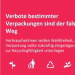 Image for the Tweet beginning: VerbraucherInnen wünschen sich nachhaltigere Verpackungen