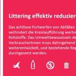 Image for the Tweet beginning: Abfälle gehören nicht in die