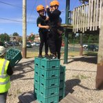 Image for the Tweet beginning: Crate stacking at Stanley Park,