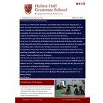 Image for the Tweet beginning: It's Senior Newsletter day! #HulmeHallGrammar #SchoolNews #IndependentSchool