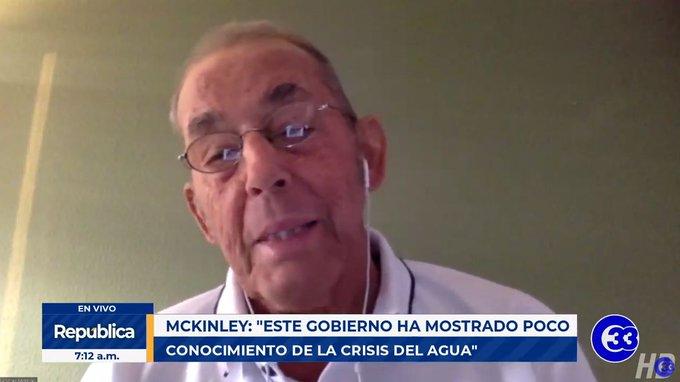 Andrés McKinley: uso prioritario del agua en El Salvador debe ser el humano