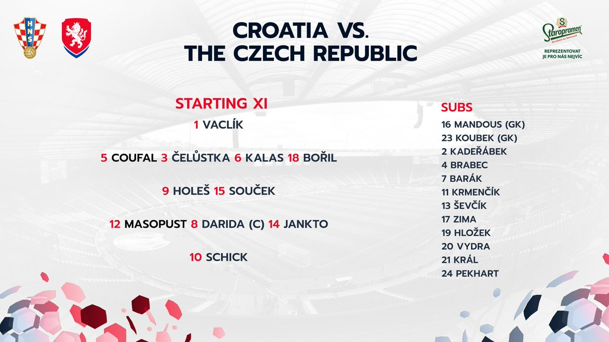 Both Vlad and Tomas start for #CZE vs #CRO   #EURO2020
