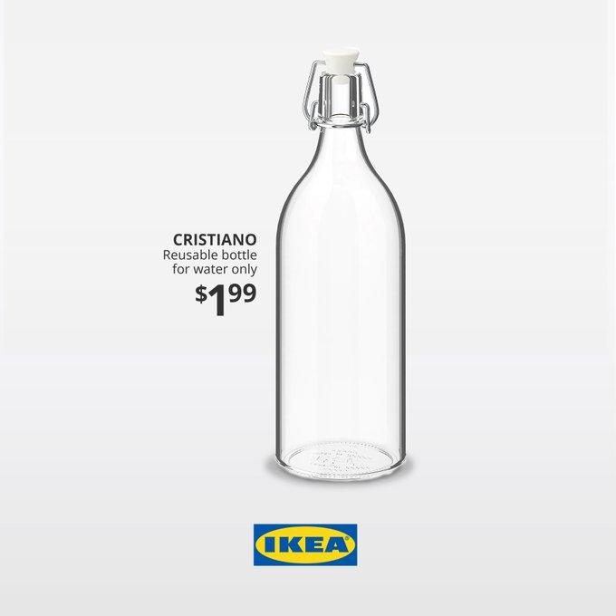 Ikea met sur le marché une bouteille au nom de Cristiano Ronaldo