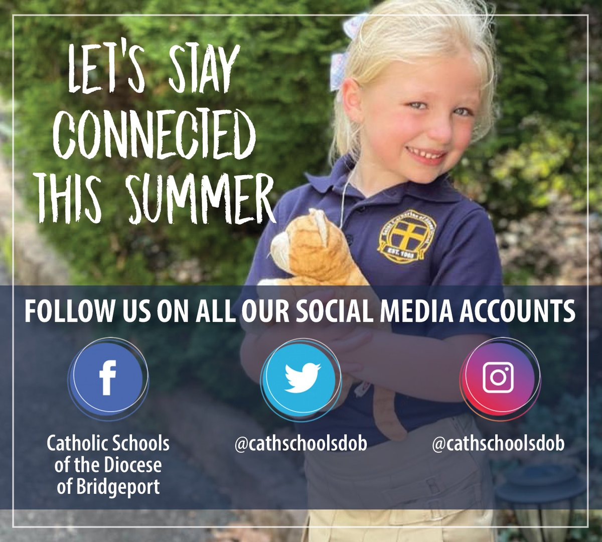 test Twitter Media - Summer break is here, but we still have so much to share! Follow us on all our social media accounts to stay connected and in the know about all 25 of our schools! @Diobpt @BptSup #StayConnected @CathSchoolNews https://t.co/jt6B1SmlIA