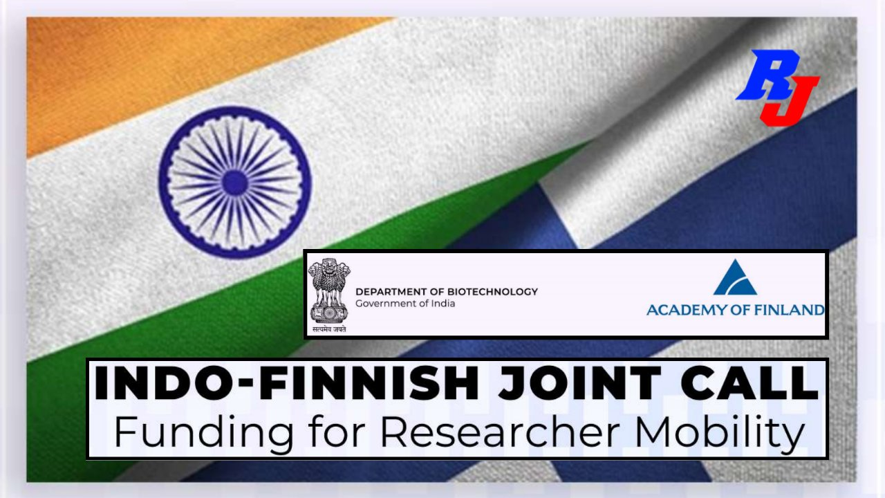 Indo-Finnish Joint Call by DBT, India association with Academy of Finland