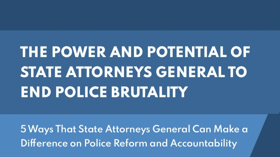 3/ We will continue to work to ensure governments do their part in #policereform. We've laid out 5 ways State AGs can make a difference in #policeaccountability in this guide: https://t.co/SjDquB00bV https://t.co/3L4ePFijhq