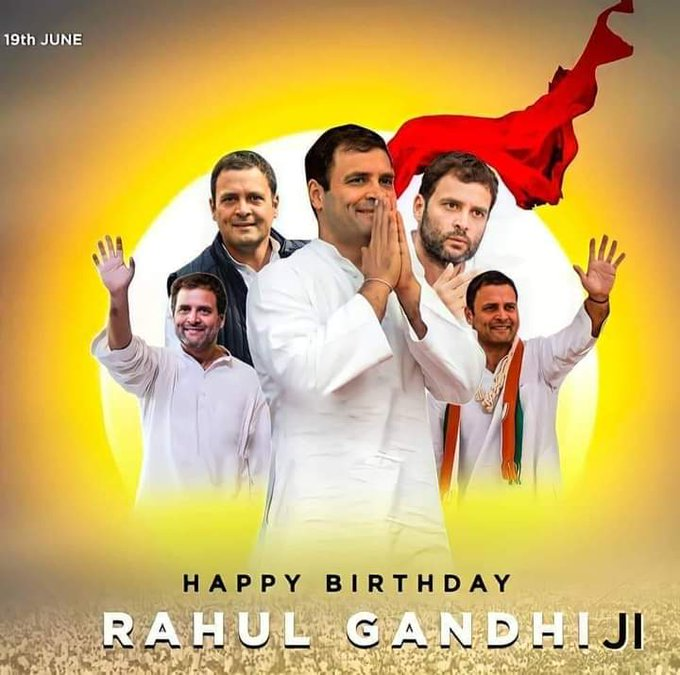 Happy birthday rahul Gandhi sir jai congres jai jai congress