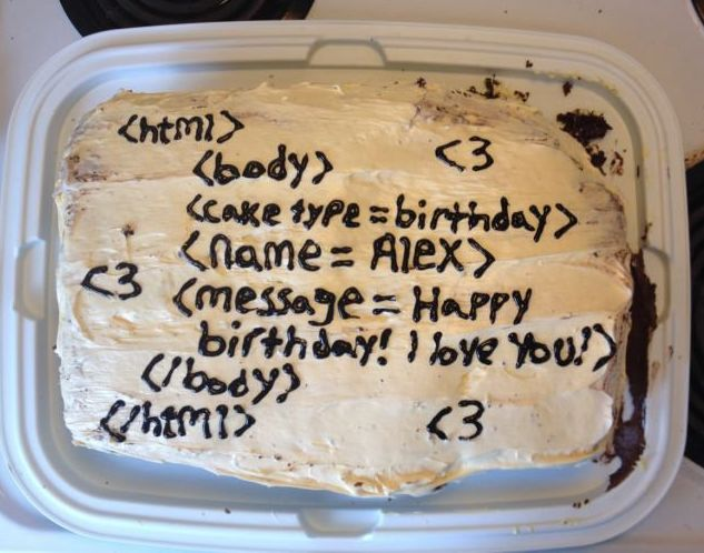 babe whats wrong you've barely touched your html themed birthday cake which would throw syntax errors on lines 3-5 https://t.co/KTe7tkzdaj