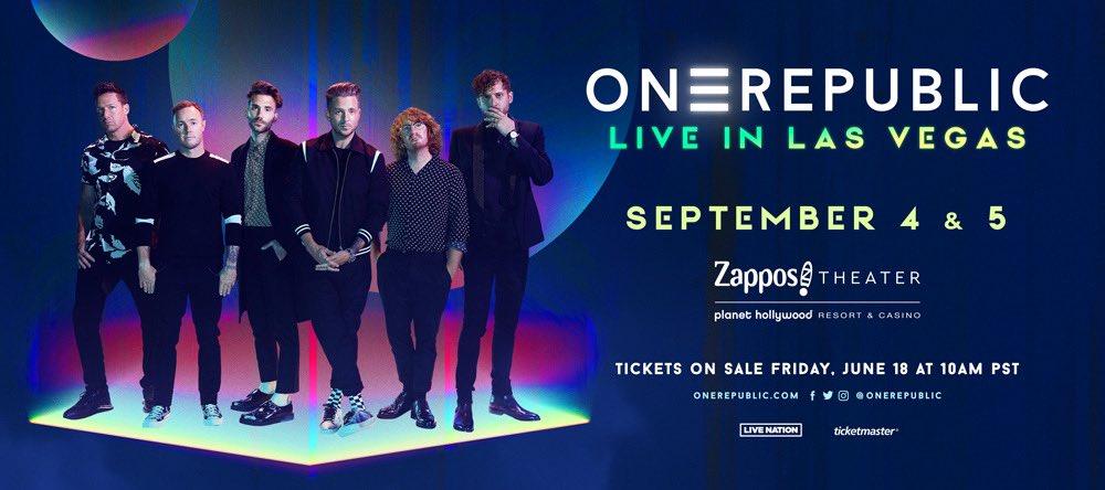 @OneRepublic's photo on ON SALE NOW