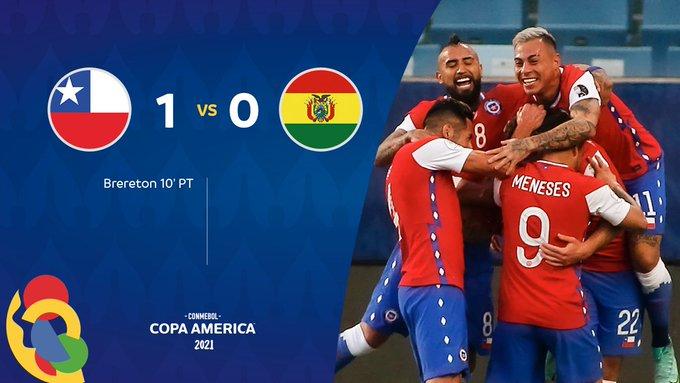 منتخب تشيلي يحقق الفوز على بوليفيا بنتيجة 10