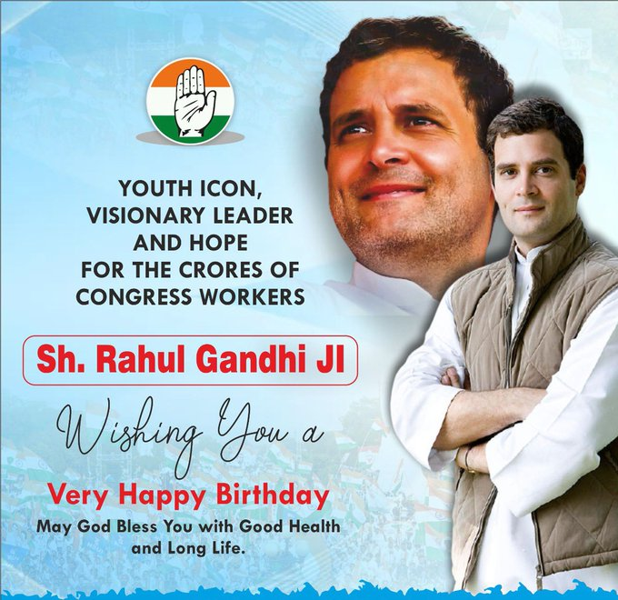 Happy Birthday to Shri Rahul Gandhi. The most powerful and honest voice of India