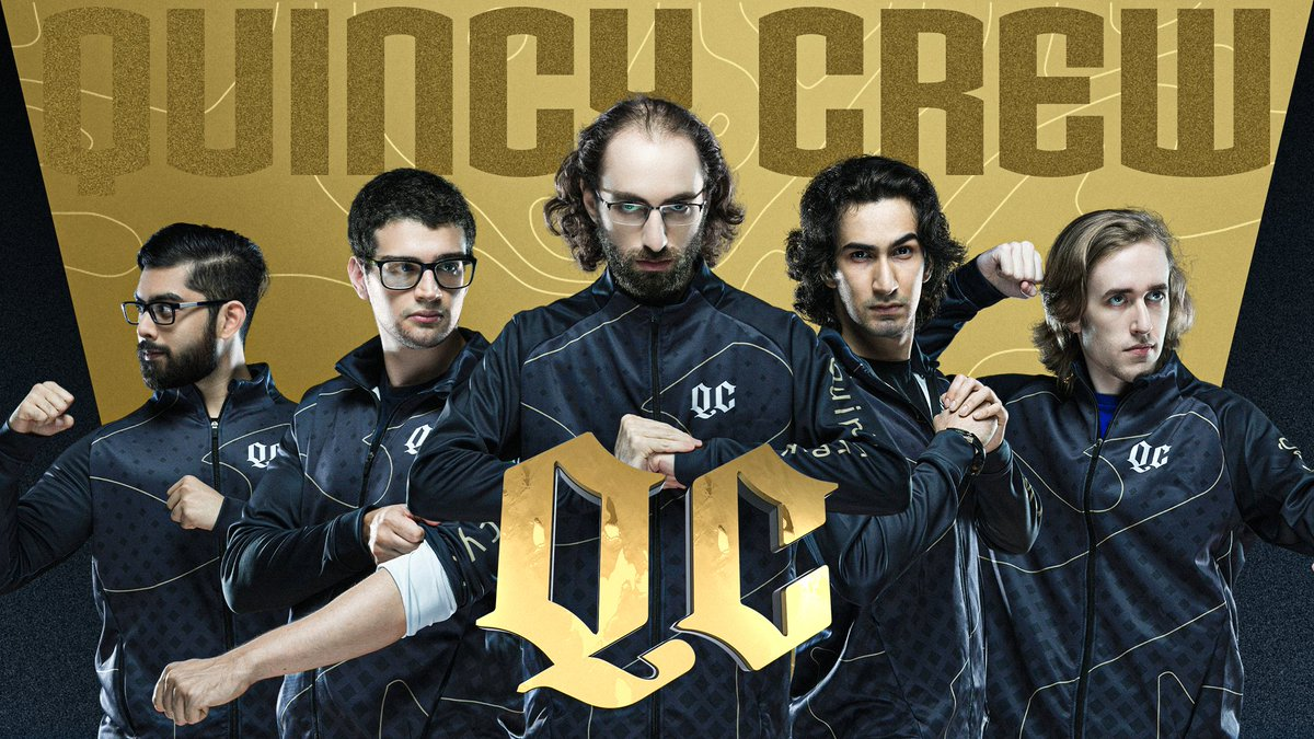 """Quincy Crew on Twitter: """"New twitter, new look, same Crew. We were forged  in the fiery chaos of @NADPCLeague, we are @Quincy_Crew: 1: @YawaR_YS 2:  @ccncdota2 3: @lelisdota 4: @MSSDota 5: @SVGDota"""