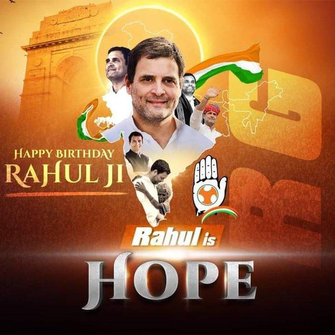 Happy Birthday  to you Rahul Gandhi.