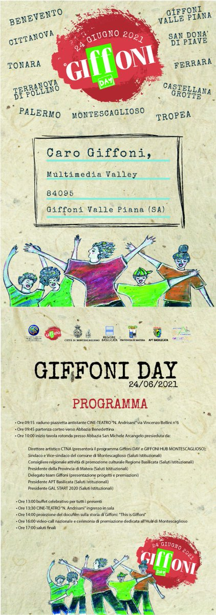 Partecipa anche tu alla giornata del GIFFONI DAY a...